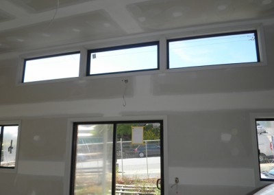 Doors and windows installed – Internal walls lined and flushed