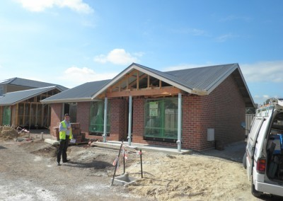 Detached single storey house – External wall and roof cladding completed